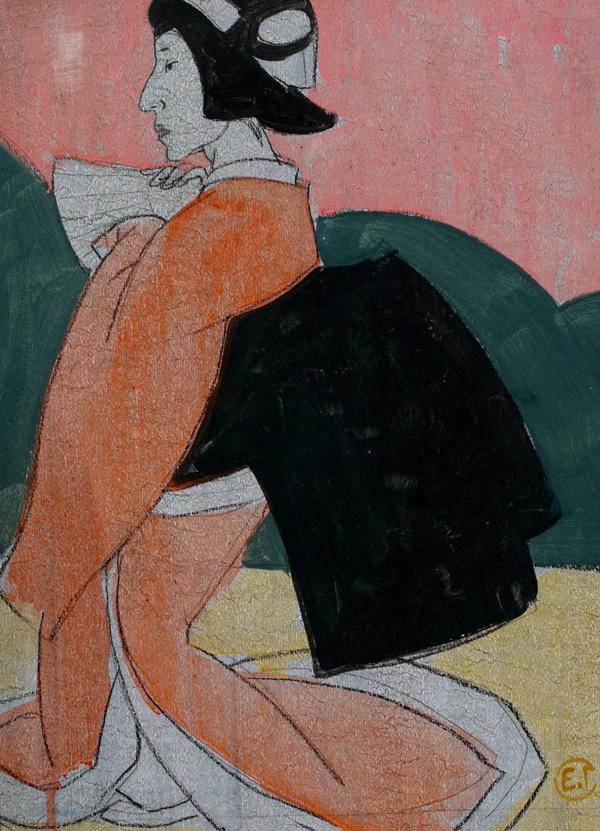 Elena Konstantinova Gorokhova, Japanese Woman, tempera