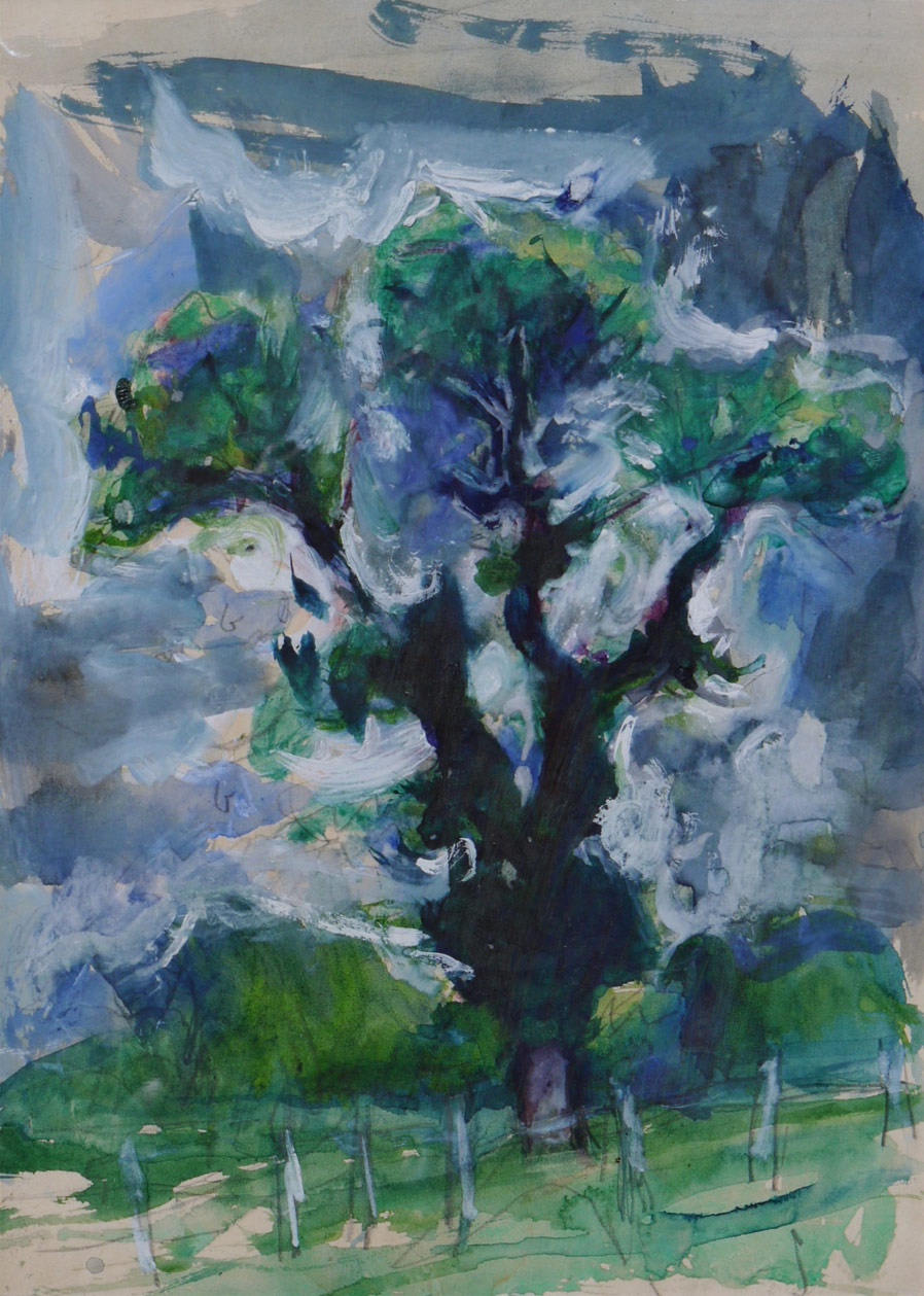 Adrian Ryan, Suffolk Elm, watercolour