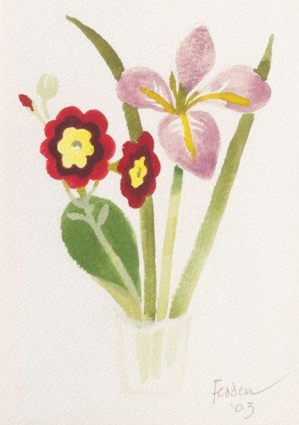 Mary Fedden, Spring Flowers, watercolour, signed