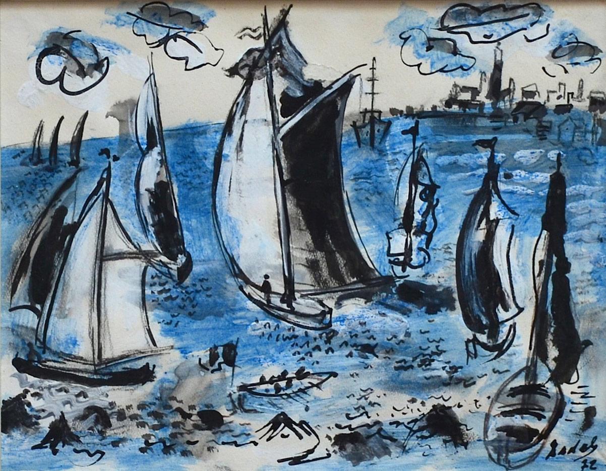 Carlos Nadal, Blue Boats, 1972