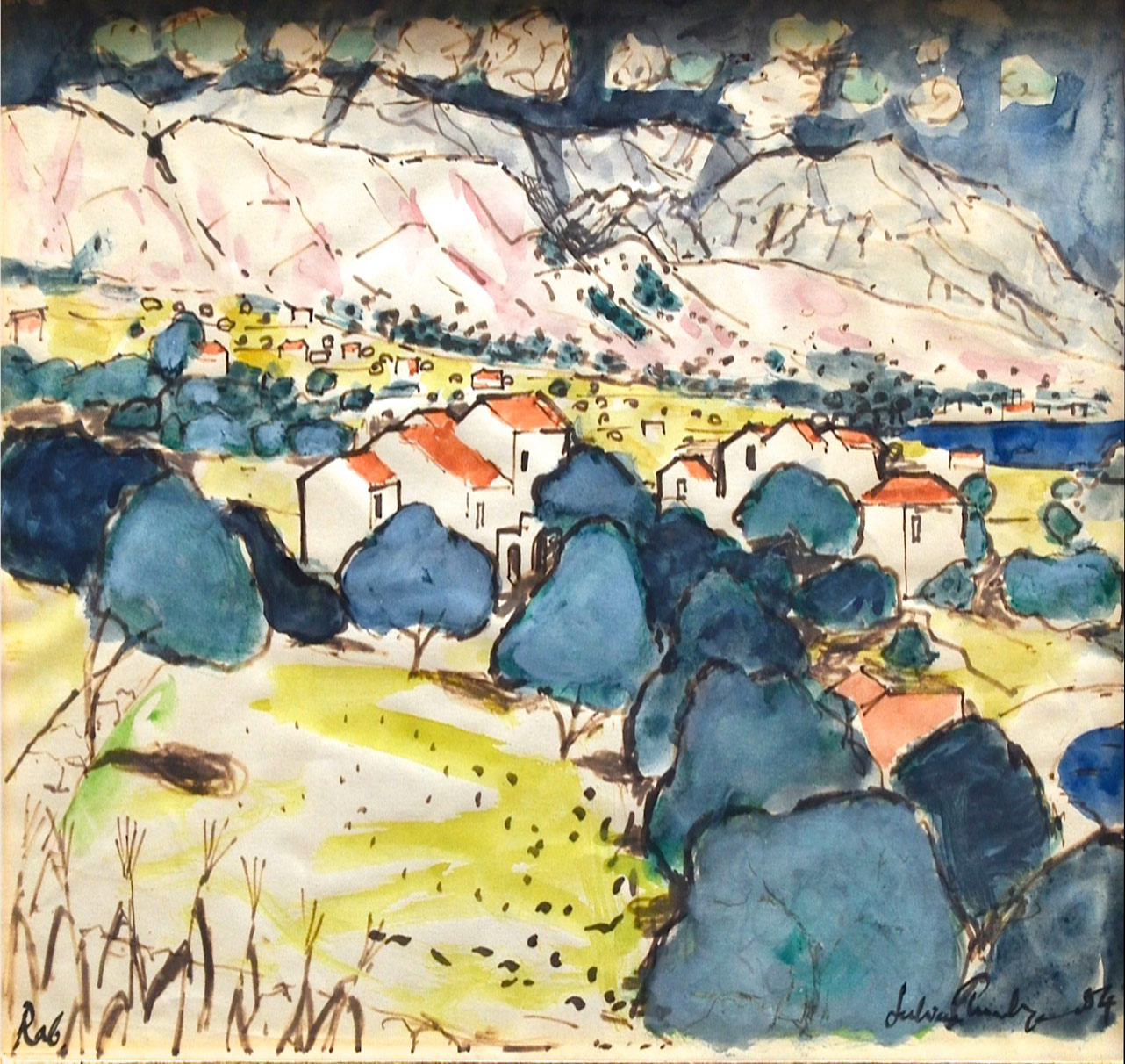 Julian Trevelyan, Village on the Island of Rab